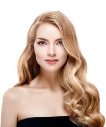 #18 Mittelblond, 40 cm, Double drawn Bondings