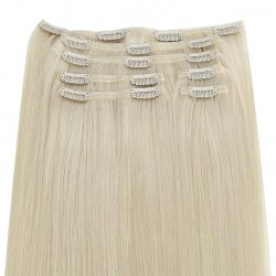 #12 Dunkelblond, 50 cm, Clip In Extensions