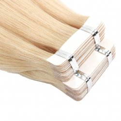 #24 Blond, 30 cm, Double drawn Tape Extensions